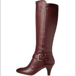 Circa Joan & David Burgundy Carita Boots
